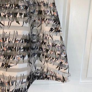 J.O.A. Skirts - J.O.A. Los Angeles Floral Striped A-line Skirt